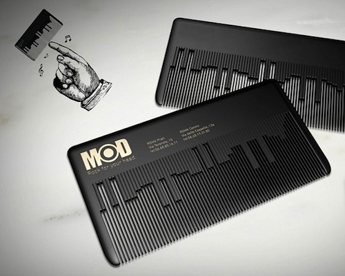 10. Music Comb Business Card by Fabio Milito