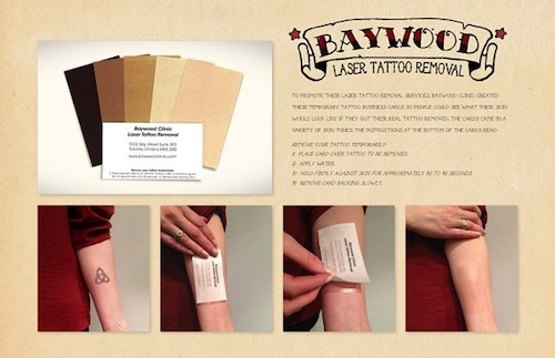 7. Baywood Laser Tattoo Removal Card by Innocean Worldwide