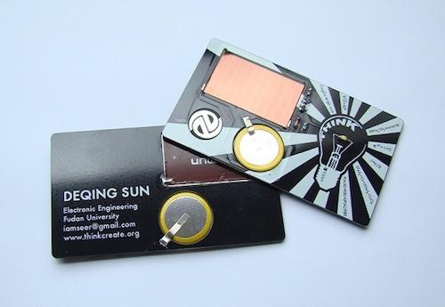 8. Solar Torch Card by Deqing Sun